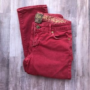 Rich & Skinny Vintage Inspired Red Colored Jeans
